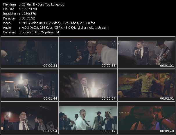 Screenshot of Music Video Plan B - Stay Too Long