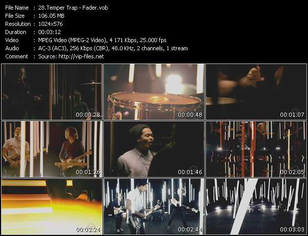 Screenshot of Music Video Temper Trap - Fader