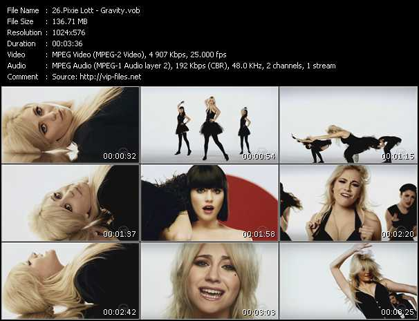 Screenshot of Music Video Pixie Lott - Gravity