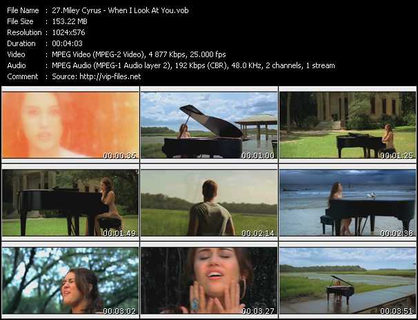 Screenshot of Music Video Miley Cyrus - When I Look At You