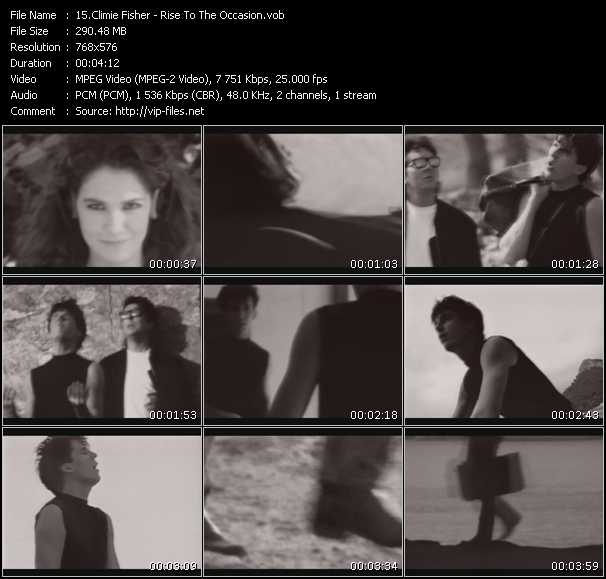 Screenshot of Music Video Climie Fisher - Rise To The Occasion