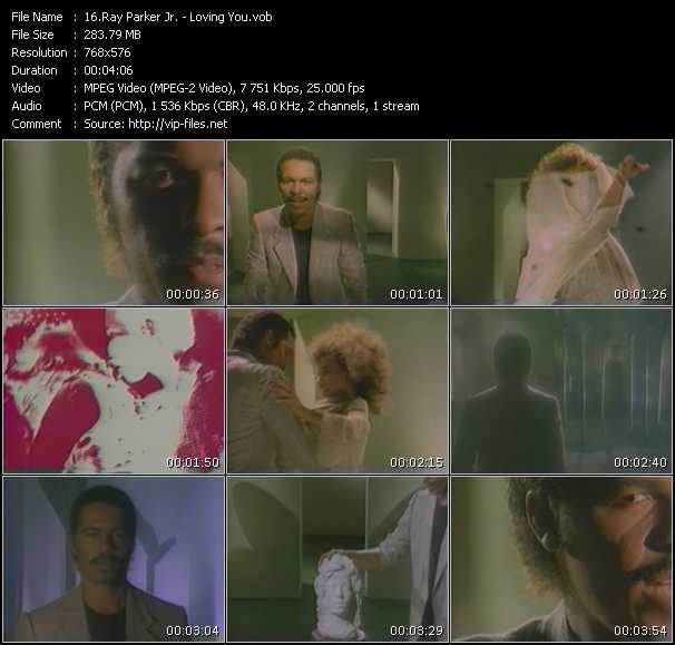Screenshot of Music Video Ray Parker Jr. - Loving You