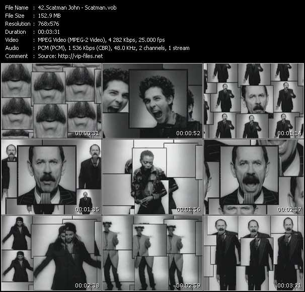 Screenshot of Music Video Scatman John - Scatman (Ski-Ba-Bop-Ba-Dop-Bop)