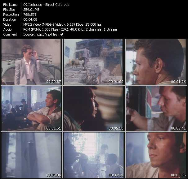 Screenshot of Music Video Icehouse - Street Cafe