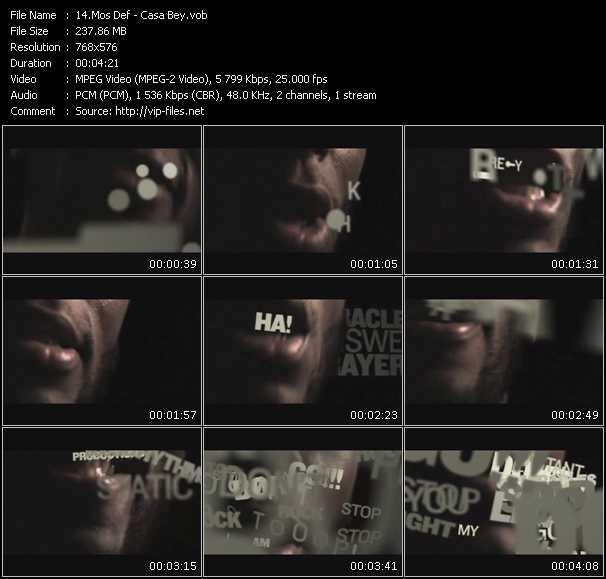 Mos Def video vob