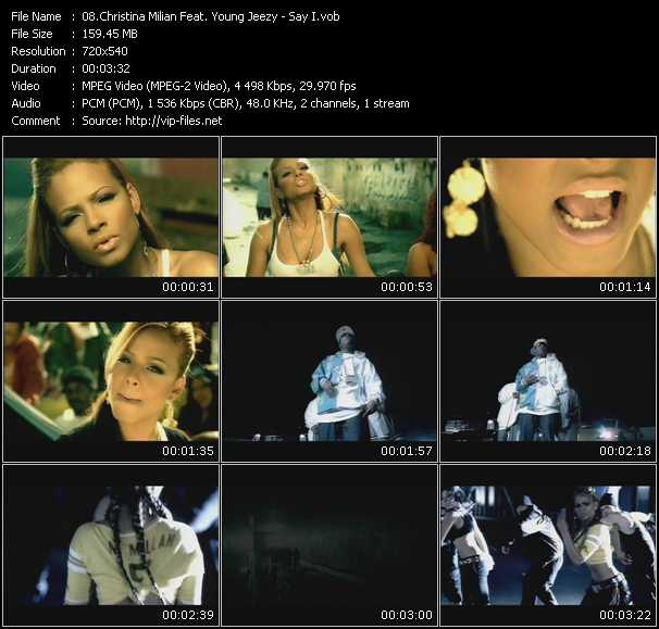 Christina Milian Feat. Young Jeezy clips musicaux vob