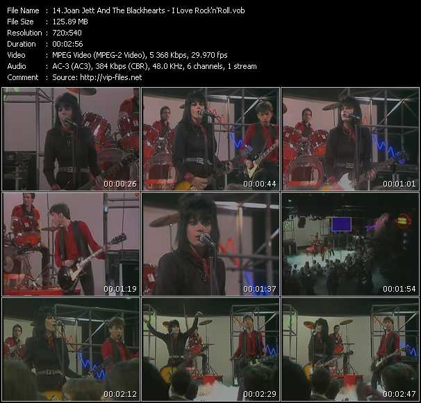 Screenshot of Music Video Joan Jett And The Blackhearts - I Love Rock'n'Roll