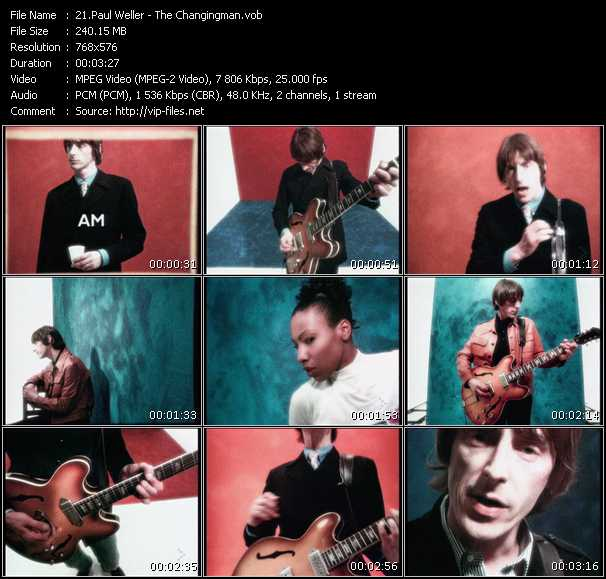 Screenshot of Music Video Paul Weller - The Changingman