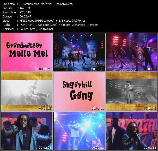 Screenshot of Music Video Grandmaster Mele Mel - Rapmania