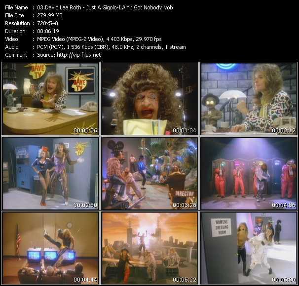 Screenshot of Music Video David Lee Roth - Just A Gigolo-I Ain't Got Nobody