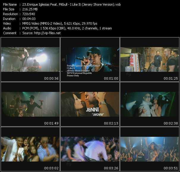 Enrique Iglesias Feat. Pitbull видеоклип vob