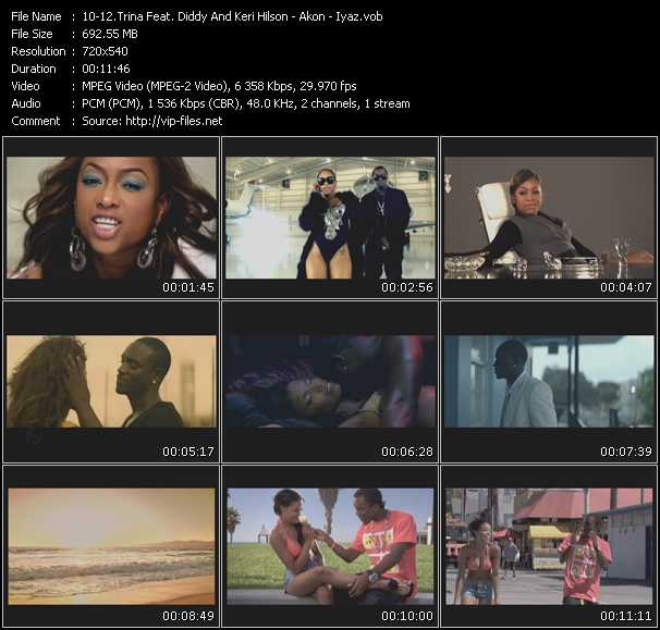 Trina Feat. P. Diddy (Puff Daddy) And Keri Hilson - Akon - Iyaz video vob