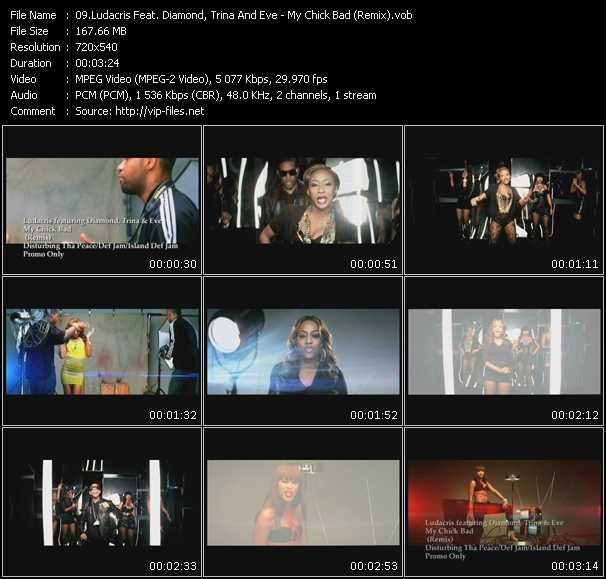 Ludacris Feat. Diamond, Trina And Eve video vob