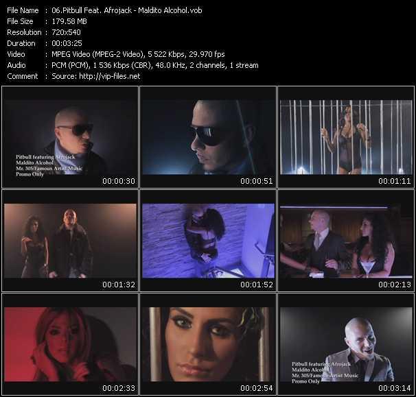 Pitbull Feat. Afrojack видеоклип vob