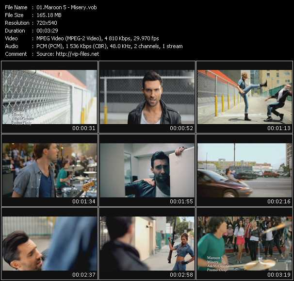 Maroon 5 video vob