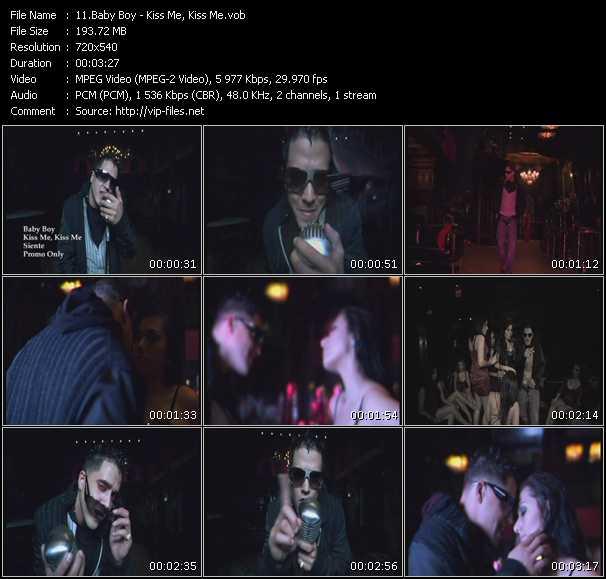 Screenshot of Music Video Baby Boy - Kiss Me, Kiss Me