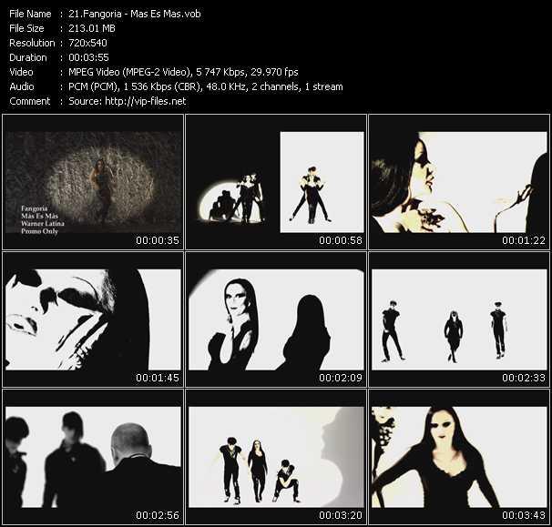 Screenshot of Music Video Fangoria - Mas Es Mas