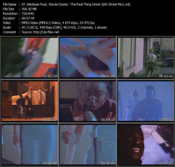 Jellybean Feat. Steven Dante clips musicaux vob