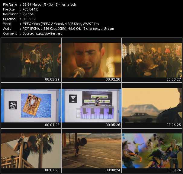 Maroon 5 - 3oh!3 - Kesha video vob