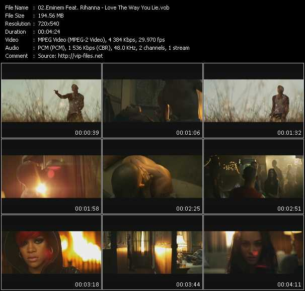 Eminem Feat. Rihanna video vob