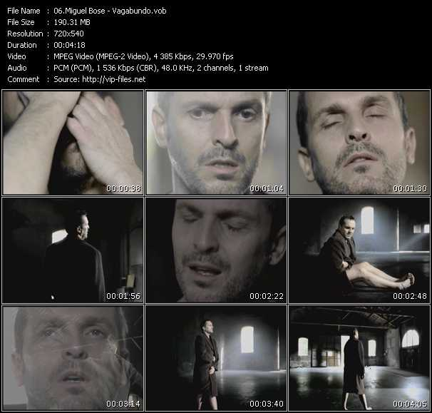 Miguel Bose video vob