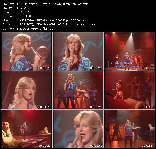 Screenshot of Music Video Anita Meyer - Why Tell Me Why (From Top Pop)