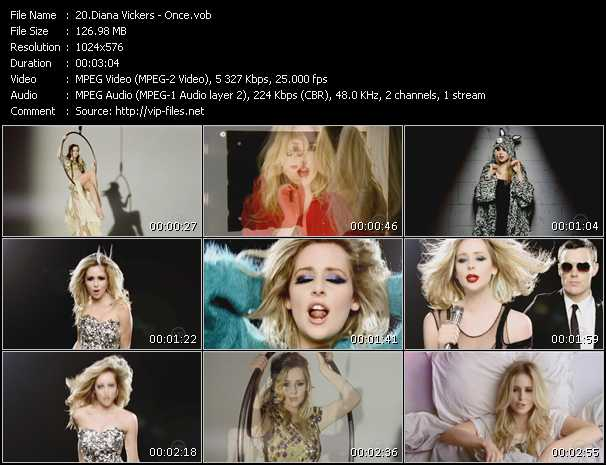 Diana Vickers video vob