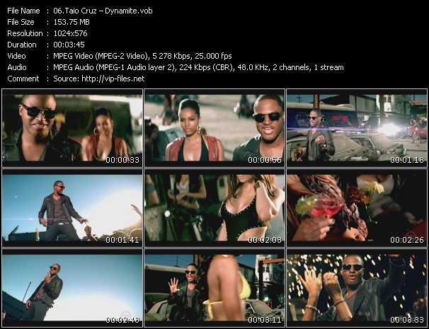 Taio Cruz video vob