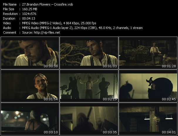 Screenshot of Music Video Brandon Flowers - Crossfire
