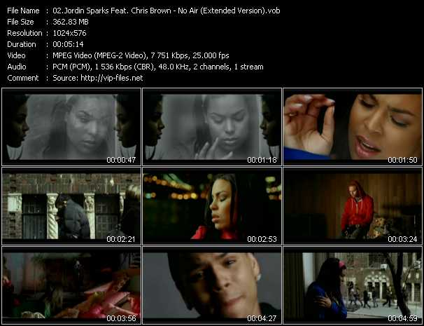 "Jordin sparks feat. Chris brown ""no air"" youtube."