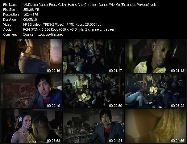 ... Calvin Harris And Chrome music video clip Dance Wiv Me (Extended