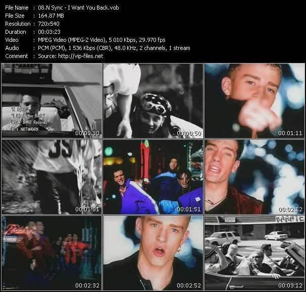 Nsync video screenshot