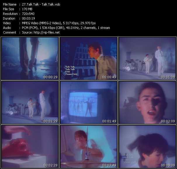 Screenshot of Music Video Talk Talk - Talk Talk
