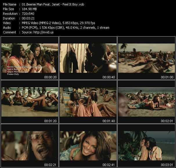 Beenie Man Feat. Janet Jackson video vob