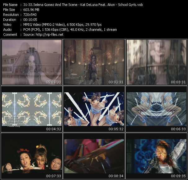 Selena Gomez And The Scene - Kat DeLuna Feat. Akon - School Gyrls video vob