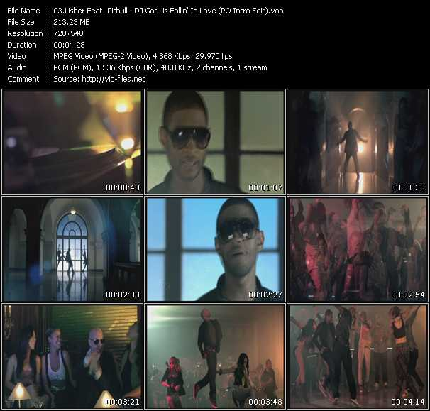 Usher Feat. Pitbull видеоклип vob