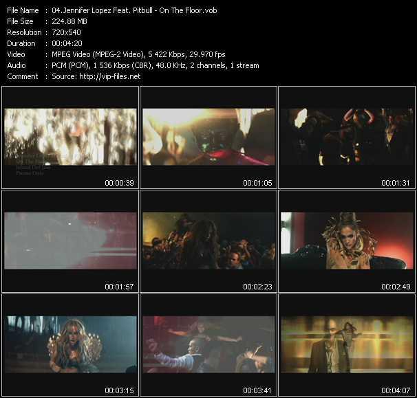 Jennifer Lopez Feat. Pitbull clips musicaux vob