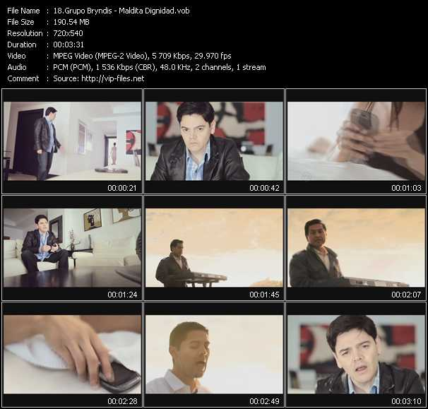 Screenshot of Music Video Grupo Bryndis - Maldita Dignidad