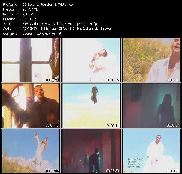 Screenshot of Music Video Zacarias Ferreira - El Triste