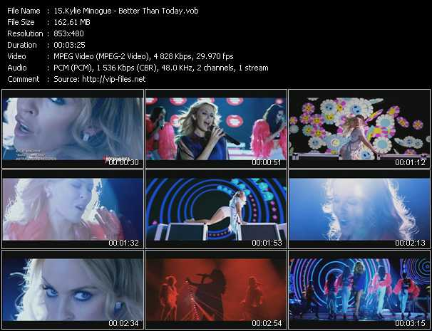 Kylie Minogue video vob