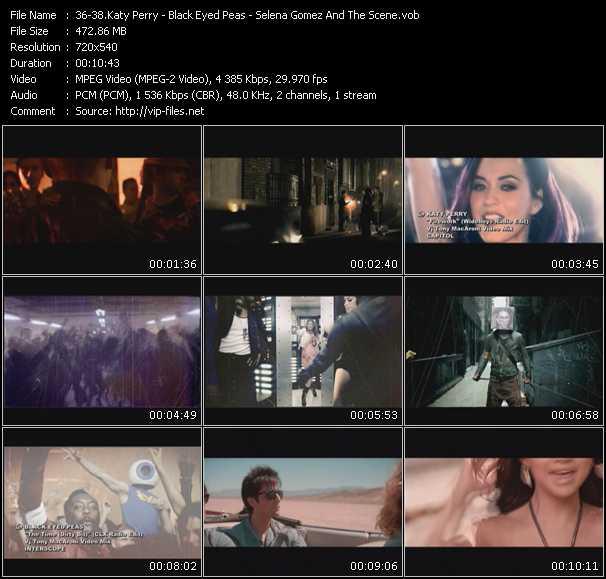 Katy Perry - Black Eyed Peas - Selena Gomez And The Scene video vob