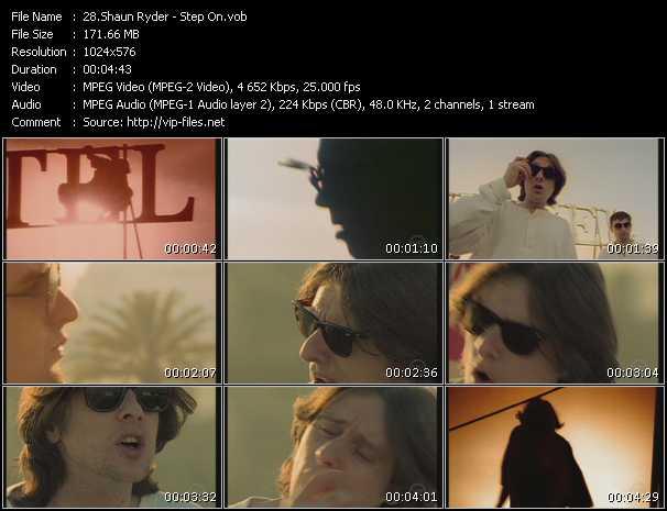 Screenshot of Music Video Shaun Ryder - Step On