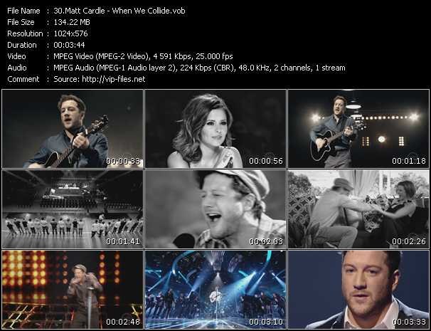 Screenshot of Music Video Matt Cardle - When We Collide