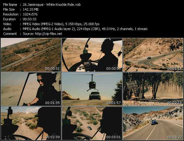 Screenshot of Music Video Jamiroquai - White Knuckle Ride