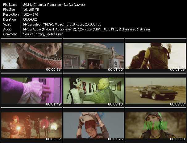 Screenshot of Music Video My Chemical Romance - Na Na Na