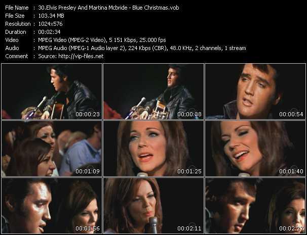 Screenshot of Music Video Elvis Presley Vs. Martina McBride - Blue Christmas