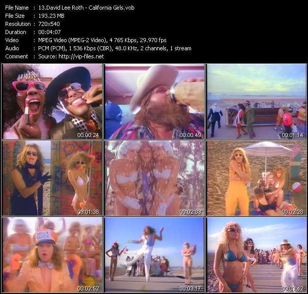 Screenshot of Music Video David Lee Roth - California Girls