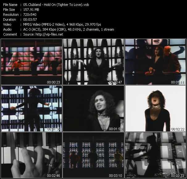 Screenshot of Music Video Clubland Feat. Zemya Hamilton - Hold On (Tighter To Love)