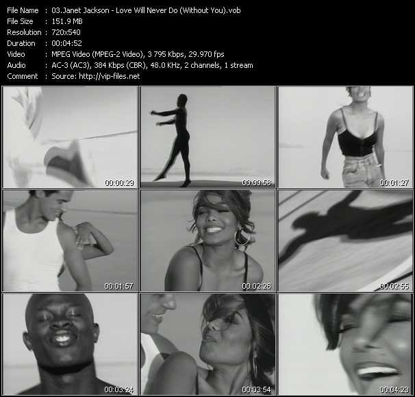 Janet Jackson video vob