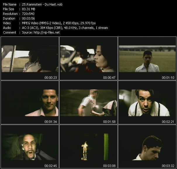 Rammstein videoclip(vob) vob